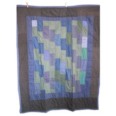 Vintage Crib Quilt, Old Order Amish, Holmes County, OH, Brick work