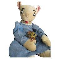 Vintage, Handmade Nurse Jane Cloth Doll, Uncle Wiggily Character
