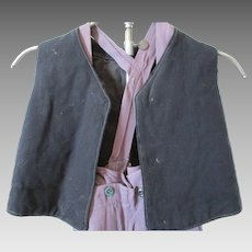 Antique Amish Boy's Wool Vest
