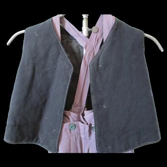 Antique Amish Boy's Wool Vest