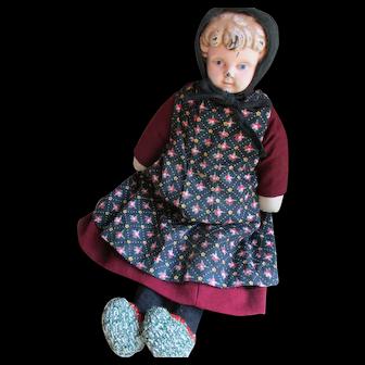 "Vintage Mennonite Metal Head,  14"" Doll, Arthur, Ontario"
