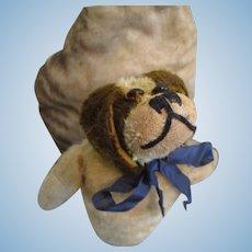 Antique Mohair Spaniel Dog,  Stuffed Puppet