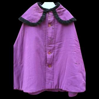 Antique Amish Girl's Wool Magenta Cape/Mandlie, c 1920's, Lancaster