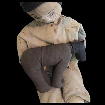 Vintage Primitive Amish Stuffed Cloth Horse