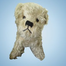 Vintage Fluffy Mohair Dog, Squeaker