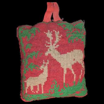 Victorian Reindeer Needlepoint Pin Cushion