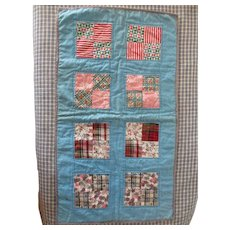 Vintage Doll Quilt, Possibly Mennonite