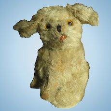 Vintage Small Stuffed c 1920's Mohair Dog