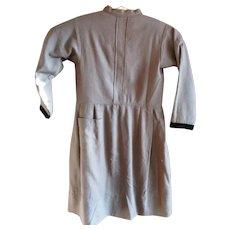 Vintage Gray Wool Amish Child's Dress, Ohio