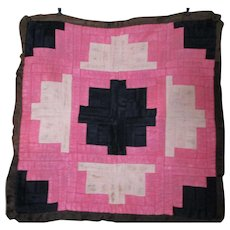 Vintage Mennonite Pieced Pillow Cover