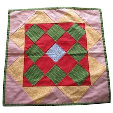 Early Mennonite Pieced Calico Pad.