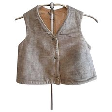 Early Amish Boy's Gray Flannel Vest