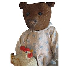 "Antique Cinnamon Burlap 12"" American Teddy Bear"