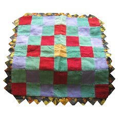 Vintage Folk Art-Amish/Mennonite Pieced Pillow Cover