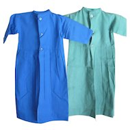 Vintage Amish Baby Dresses, Pair, New York Swartzentruber