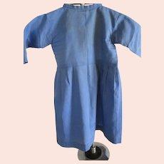 Vintage Amish Child/Baby Dress, Blue, Hand-stitched