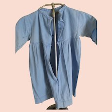 Vintage Amish Child's Dress, Light Blue, Cotton, Worn
