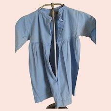 Vintage Amish Child's Dress, Light Blue, Cotton, Worn