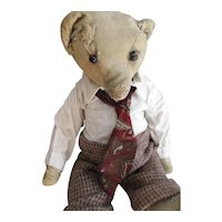 "Antique America, Bare White 15"" Bear, Dressed"