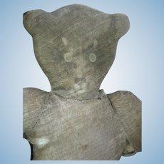 "Antique Litho Printed Cloth  13"" Teddy Bear/Doll"