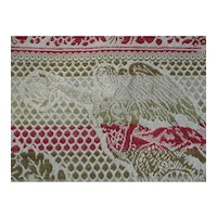 Antique Wool Jacquard Coverlet, Angels.