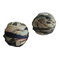 Early Rag Balls, Pair, Country Primitive Textile, NY