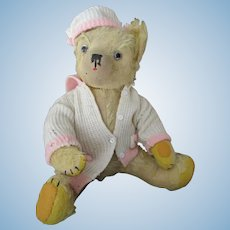 """Vintage  Mohair, Yellow Colored 16"""" Bear, c 1920's"""