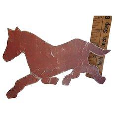 Vintage Amish Folk Art, Metal Pattern, Tin Template, Horse