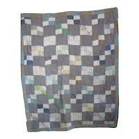 Vintage Amish Four-Patch Crib Quilt, Kentucky