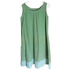 Vintage Amish Girl's Green Slip, Ohio