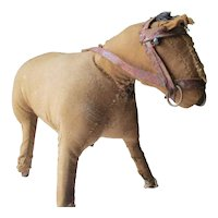 Best Folk Art Antique Cloth Stuffed Toy Horse