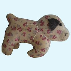 Early, Vintage Calico Dog, Folk Art, Lancaster