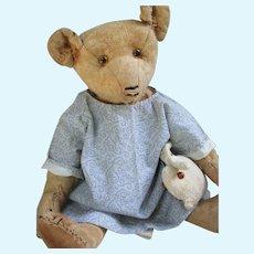 "Antique American 14"" Teddy Bear, BMC."