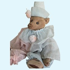 "Antique 17"" Steiff Teddy Bear-Extreme Prim, Tears of a Clown"