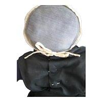 "Early Vintage Amish Rag Doll, Denim, 17"" c 1940's, Ohio"