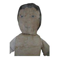 "Antique Mennonite Hand-Painted 25"" Cloth Doll, Ohio"