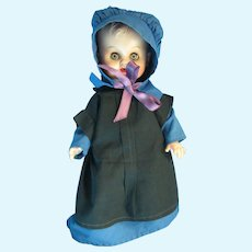 Vintage Vinyl Amish Doll, Early Cotton Clothing, Lancaster, PA