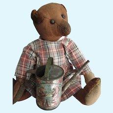 "Antique Dark Brown, 13"" Steiff Bear, Folk Art, Chocolatina"