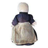 "Vintage Folk Art Amish 15"" Cloth Doll, Lancaster, PA"