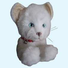 "Vintage Plush, White Kitten/Cat, ""Real Soft Toys"", Stuffed/Soft Toy, England"