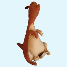"""Agnes Brush, Vintage Stuffed Felt, 12"""" Kanga, Pooh's Friend"""