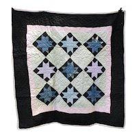 Antique Amish Stars Crib Quilt, Provenance