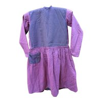 Antique Amish Child's Magenta Wool Dress, c1890, Lancaster