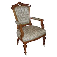 Lovely Antique Victorian Eastlake Style Parlor Chair