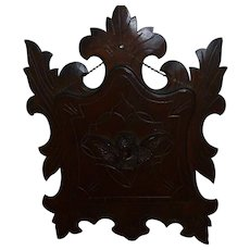 Beautiful Antique Victorian Walnut Wall or Hanging Magazine Rack
