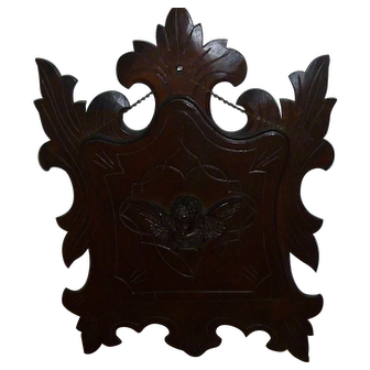 Beautiful Antique Victorian Walnut Wall or Hanging Magazine Rack