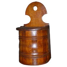 Frantastic Antique Wood Wooden Salt Box