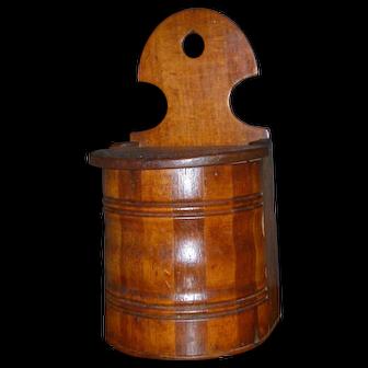 Frantastic Antique Wood Wooden Salt Box