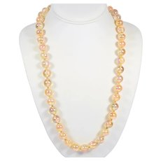 Vintage Iridescent Shimmering Soap Bubble Lucite Bead Necklace