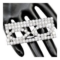 Vintage Juliana Clear Rhinestone  Single Buckle Mr DeLizza's Personal Jewelry Collection